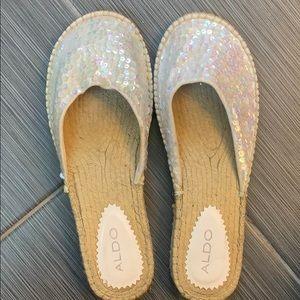 Aldo iridescent sequin slippers